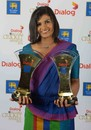Shashikala Siriwardene picked up two awards - Best Bowler and Best Allrounder in ODIs, Colombo, September 3, 2014