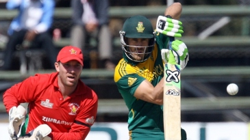 Faf du Plessis was solid against the spinners