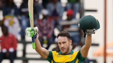 Faf du Plessis scored his third ton of the series