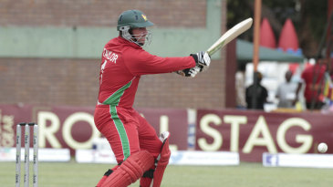Brendan Taylor targets the off side