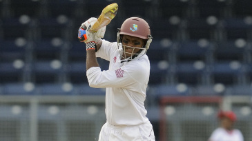 Shivnarine Chanderpaul punches one to the off side