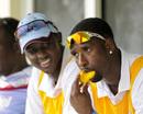 Shane Shillingford eats a mango, West Indies v Bangladesh, 1st Test, St Vincent, 2nd day, September 6, 2014
