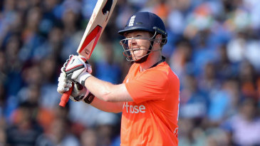 Eoin Morgan smashes one of his seven sixes