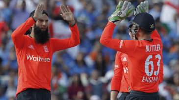 Moeen Ali picked up a wicket in his opening over