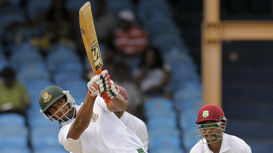 Mahmudullah hit one six during his fifty