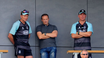 Andy Flower (centre) chats with Graham Ford and Alec Stewart