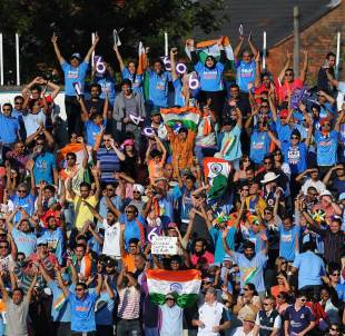 An excitable crowd was heavily in favour of India, England v India, only Twenty20, Edgbaston, September 7, 2014