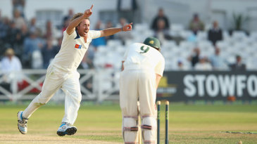 Ryan Sidebottom uprooted Riki Wessels' off stump