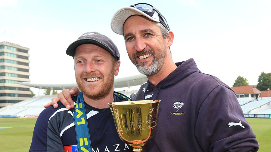 Andrew Gale and Jason Gillespie the the precious prize