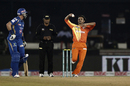 Aizaz Cheema claimed 2 for 22, Mumbai Indians v Lahore Lions, CLT20 qualifier, Raipur, September 13, 2014