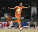 Imran Ali is thrilled with a wicket, Mumbai Indians v Lahore Lions, CLT20 qualifier, Raipur, September 13, 2014