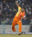 Asif Raza in action, Mumbai Indians v Lahore Lions, CLT20 qualifier, Raipur, September 13, 2014