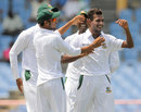 Shafiul Islam is overjoyed after taking a wicket, West Indies v Bangladesh, 2nd Test, St. Lucia, 2nd day, September 14, 2014