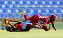 Shemaine Campbelle and Kycia Knight collided while fielding, West Indies v New Zealand, 2nd women's ODI, St Kitts, September 14, 2014