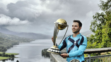 Preston Mommsen poses with the World Cup