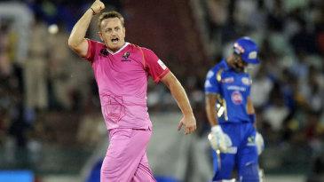 Scott Styris celebrates after taking a wicket