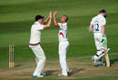 Alfonso Thomas removed Sam Robson in his second over, Somerset v Middlesex, County Championship, Division One, Taunton, 2nd day, September 16, 2014