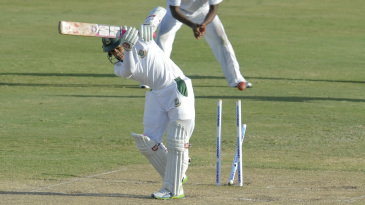Mushfiqur Rahim became a target of Jerome Taylor's reverse swing
