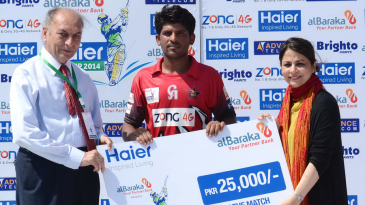 Zubair Ahmed was Man of the Match for his unbeaten ton