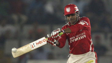 Virender Sehwag holed out for a golden duck