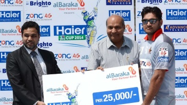 Ali Khan slammed 48 off 19 balls to win the Man of the Match cheque