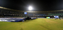 The covers come on in Raipur, Cape Cobras v Northern Knights, Champions League T20, Raipur, September 19, 2014