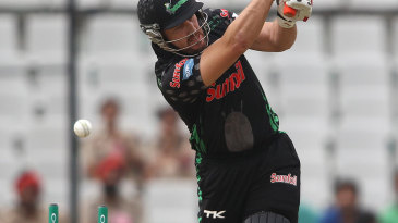 Dolphins' Morne van Wyk was bowled in the first over