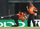 Perth Scorchers' Sam Whiteman dives as he completes a catch, Dolphins v Perth Scorchers, Champions League T20, Mohali, September 20, 2014