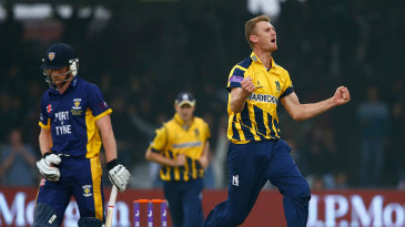 Oliver Hannon-Dalby ended Paul Collingwood's useful innings