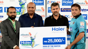 Yasim Murtaza was named Man of the Match for his 34-ball 64