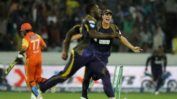 A blur in the outfield: Andre Russell's direct hit ran out Nasir Jamshed