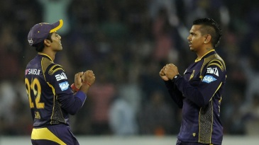 Sunil Narine conceded nine runs and picked three wickets