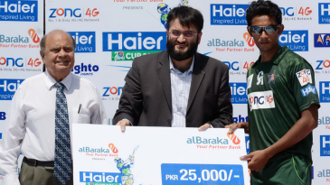 Raza Hasan was Man of the Match after claiming 3 for 16