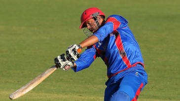 Mirwais Ashraf hits off the front foot