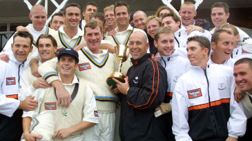 Yorkshire celebrate after winning the 2001 County Championship