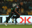 Andile Phehlukwayo hurls in a delivery, Chennai Super Kings v Dolphins, CLT20, Group A, Bangalore, September 22, 2014