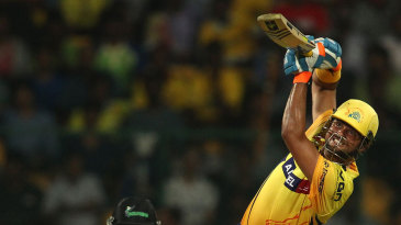 Suresh Raina goes over the top