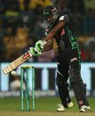 Cody Chetty attempts a cut, Chennai Super Kings v Dolphins, CLT20, Group A, Bangalore, September 22, 2014