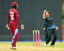 Holly Huddleston exults after dismissing Britney Cooper, WI Women v NZ Women, 1st T20, St Lucia, September 23, 2014