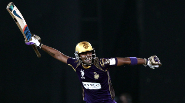 Suryakumar Yadav is pumped up after leading Knight Riders to a win