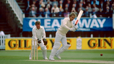 David Gower on his way to an unbeaten 92