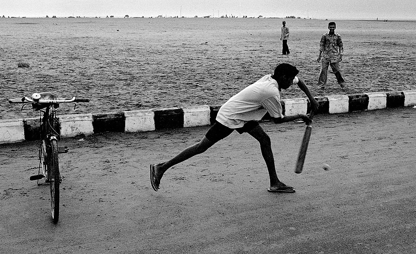 All the world's a pitch: cricket on Marina Beach