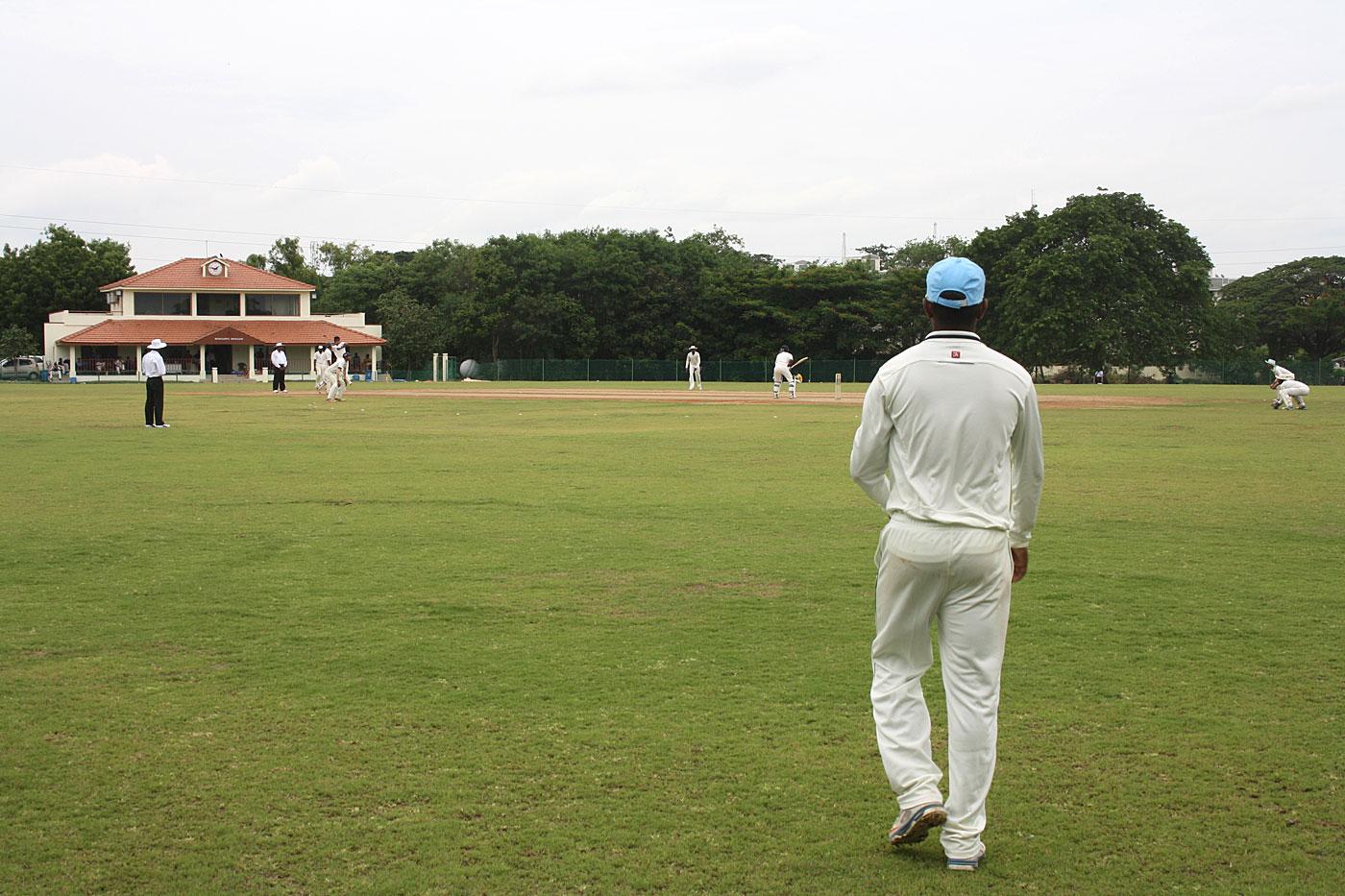 A Buchi Babu semi-final at the Murugappa Cricket Ground in Avadi, Chennai