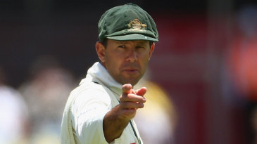 Ricky Ponting in his farewell Test