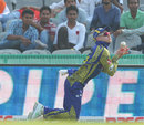 Sybrand Engelbrecht fluffs a catch, Barbados Tridents v Cape Cobras, Champions League T20, Group B, Mohali, September 26, 2014