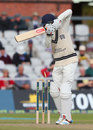 Neil Dexter chopped onto his leg stump, Lancashire v Middlesex, County Championship, Division One, Old Trafford, September 26, 2014