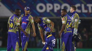 A distraught Jonathan Carter is consoled by the Cobras players