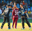 Mission accomplished: Sophie Devine and Suzie Bates after the series win, West Indies v New Zealand, 3rd women's T20I, St Vincent, September 27, 2014