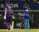 Akeal Hosein picked up a couple of wickets, Barbados Tridents v Hobart Hurricanes, Champions League T20, Mohali, September 28, 2014