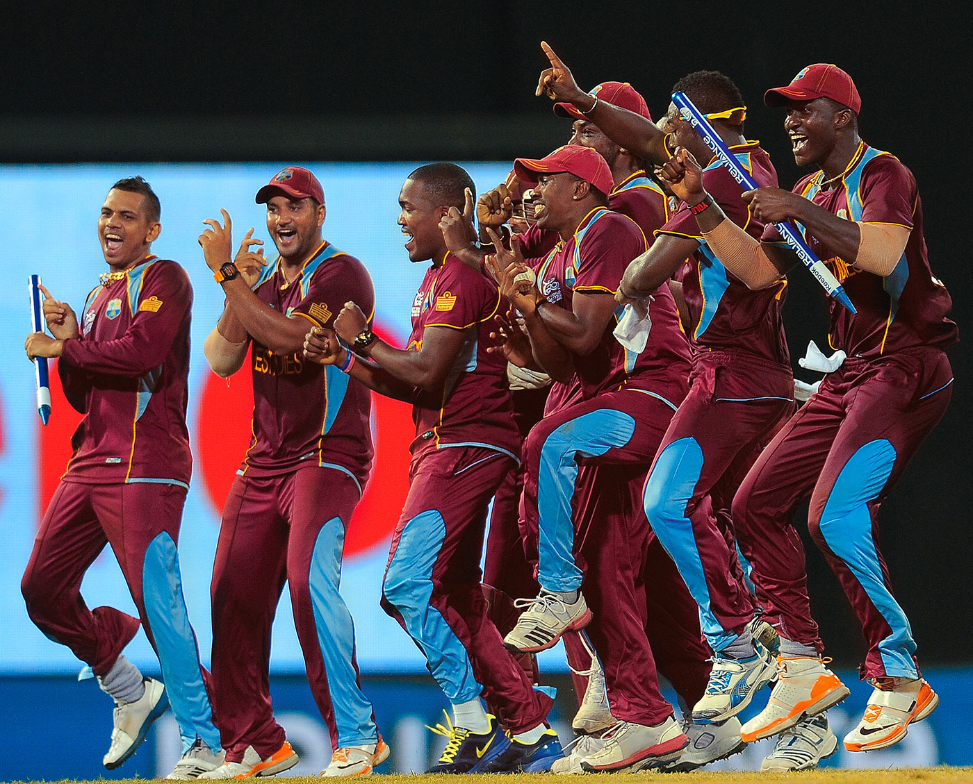 West Indies celebrate their victory, 'Gangnam' style, Sri Lanka v West Indies, final, World Twenty20, Colombo, October 7, 2012